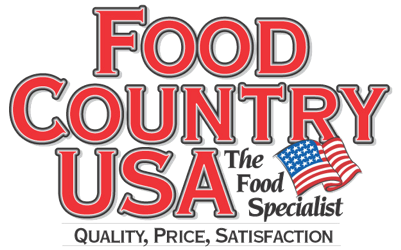 A theme logo of Food Country USA